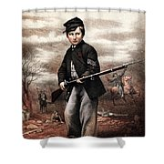 Union Drummer Boy John Clem Shower Curtain by War Is Hell Store