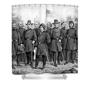 Union Generals Of The Civil War  Shower Curtain by War Is Hell Store