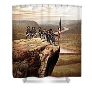 Union Soldiers On Lookout Mountain Shower Curtain by War Is Hell Store
