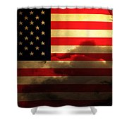 United States of America . Land of The Free Shower Curtain by Wingsdomain Art and Photography