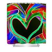 Universal Sign For Love Shower Curtain by Eloise Schneider