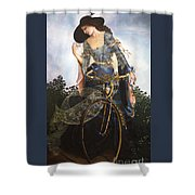 Unstuck In Time Shower Curtain by Jane Whiting Chrzanoska