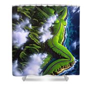 Unveiled Shower Curtain by Jerry LoFaro