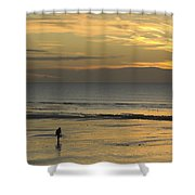Up At First Light Shower Curtain by Malc McHugh