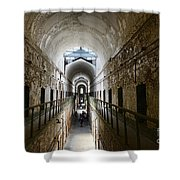Upper Cell Blocks Shower Curtain by Paul Ward
