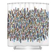 Urban Abstract Shower Curtain by Frank Tschakert