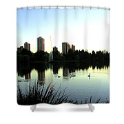 Urban Paradise Shower Curtain by Will Borden