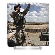U.s. Air Force Member Calls For Air Shower Curtain by Stocktrek Images