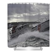 U.s. Coast Guard Motor Life Boat Brakes Shower Curtain by Stocktrek Images