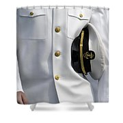 U.s. Naval Academy Midshipman In Dress Shower Curtain by Stocktrek Images