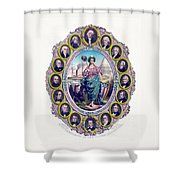 Us Presidents And Lady Liberty  Shower Curtain by War Is Hell Store
