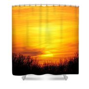 Valley Of The Sun Shower Curtain by Frozen in Time Fine Art Photography