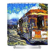 Van Gogh Vacations In San Francisco 7d14099 Shower Curtain by Wingsdomain Art and Photography