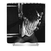 Van Halen's Guitar Eruption Shower Curtain by Ben Upham