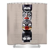 Vancouver Totem - 1 Shower Curtain by Linda  Parker