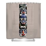 Vancouver Totem - 2 Shower Curtain by Linda  Parker