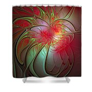 Vase Of Flowers Shower Curtain by Amanda Moore