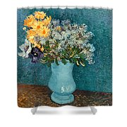 Vase Of Flowers Shower Curtain by Vincent Van Gogh