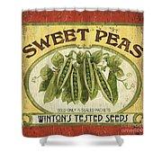 Veggie Seed Pack 1 Shower Curtain by Debbie DeWitt