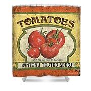 Veggie Seed Pack 3 Shower Curtain by Debbie DeWitt