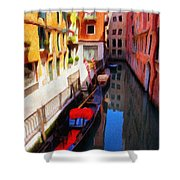 Venetian Canal Shower Curtain by Jeff Kolker