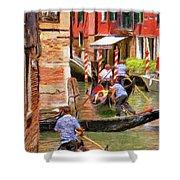 Venetian Red Shower Curtain by Jeff Kolker