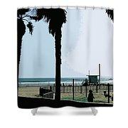 Venice Beach California Shower Curtain by Phill Petrovic