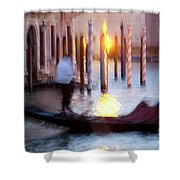 Venice Blue Hour 1 Shower Curtain by Heiko Koehrer-Wagner