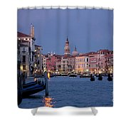 Venice Blue Hour 2 Shower Curtain by Heiko Koehrer-Wagner