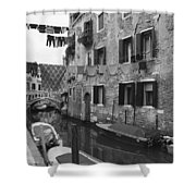 Venice Shower Curtain by Frank Tschakert