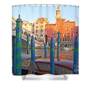 Venice Rialto Bridge Shower Curtain by Heiko Koehrer-Wagner