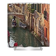 Venice Ride With Gondola Shower Curtain by Heiko Koehrer-Wagner