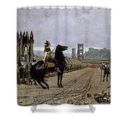 Vercingetorix Before Caesar Shower Curtain by Henri Paul Motte