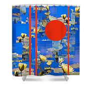 Vertical Horizon Shower Curtain by Steve Karol
