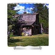 Vic Moore's Barn Shower Curtain by David Patterson