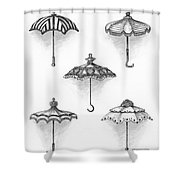 Victorian Parasols Shower Curtain by Adam Zebediah Joseph