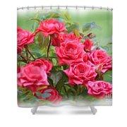 Victorian Rose Garden - Digital Painting Shower Curtain by Carol Groenen