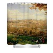 View Of Bradford Shower Curtain by William Cowen