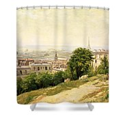 View of Paris Shower Curtain by Stanislas Victor Edouard Lepine