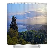 View Of Sicily Shower Curtain by Madeline Ellis