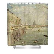 View of Somerset House Terrace and St. Paul's Shower Curtain by John Constable
