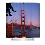 View Of The Golden Gate Bridge Shower Curtain by American School