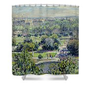 View of the Tuileries Gardens Shower Curtain by Claude Monet