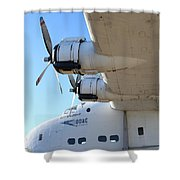 Vintage BOAC British Overseas Airways Corporation Speedbird Flying Boat . 7D11289 Shower Curtain by Wingsdomain Art and Photography