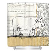 Vintage Farm 2 Shower Curtain by Debbie DeWitt