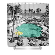 Vintage Miami Shower Curtain by Andrew Fare