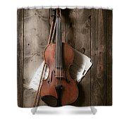 Violin Shower Curtain by Garry Gay