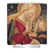 Virgin and Child  Shower Curtain by Neri di Bicci