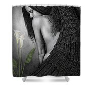 Visible Darkness Shower Curtain by Pat Erickson