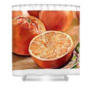 Vitamin C Shower Curtain by Irina Sztukowski